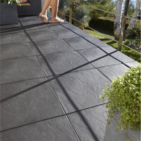 Dalles Clipsables Pour Terrasse 3279 by Dalle Clipsable Polypropyl 232 Ne Easy Aspect Ardoise L 38 X
