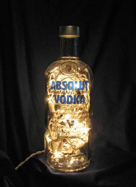 light with vodka absolut vodka vodka bottle and bottle lights on