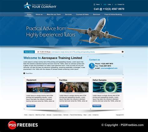 Flight Training Programs Psd Template Psdfreebies Com Flight School Website Template