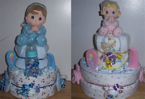 baby shower 2 tier precious moments diaper cake ebay
