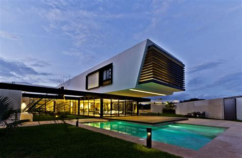 cantilever homes yucatan cantilevered house outdoor pool home decorating