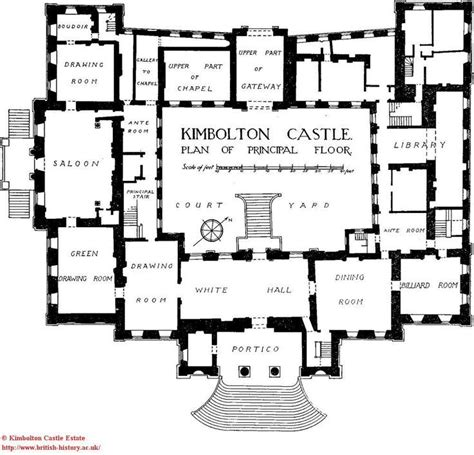 castle floor plan kimbolton castle principal floor estate plans