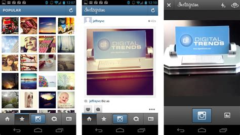 instagram s layout comes to android techcrunch instagram is rolling out business tools just not for you