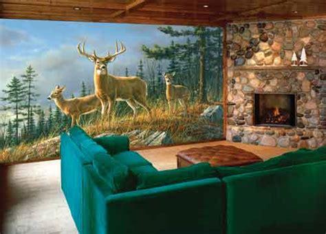 Deer Wall Murals Autumn Whitetails Wall Mural Deer Shack