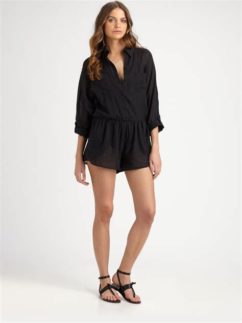 www short lyst zimmermann short jumpsuit in black
