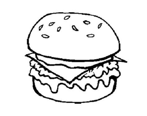 free coloring pages of burger and fries
