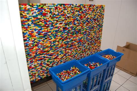 lego room dividers this colorful wall divider is made up of 55 000 lego