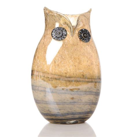 Owl Vase by Owl Glass Vase