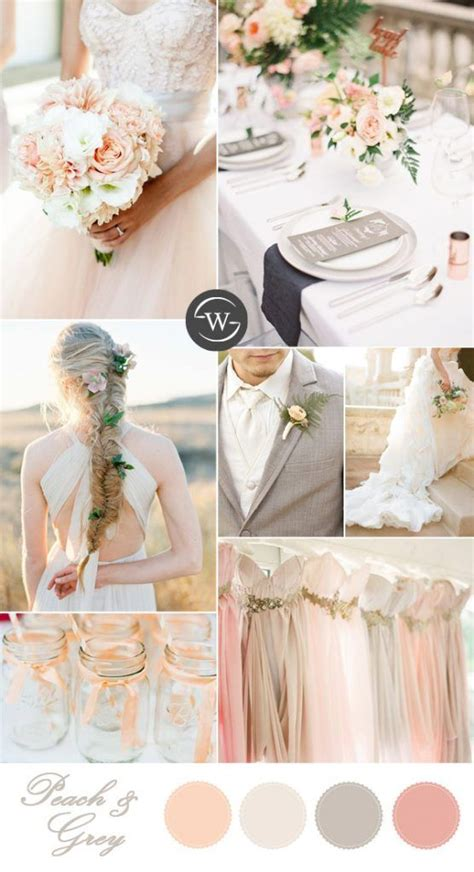 10 summer wedding color palettes for 2017 brides gray wedding colors grey