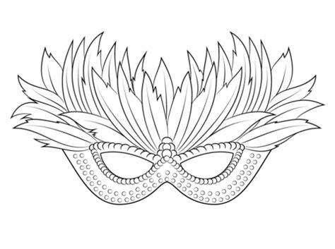 dibujo de m 225 scara veneciana mardi gras para colorear