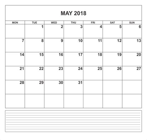 printable calendar 2018 black and white may 2018 calendar editable download png templates free