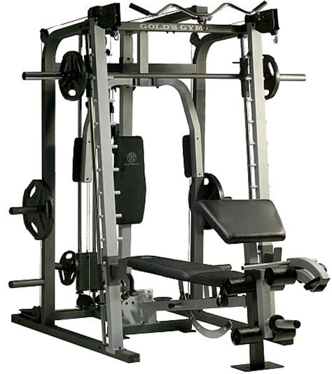 smith machine bench brand new gold s gym platinum home gym includes smith