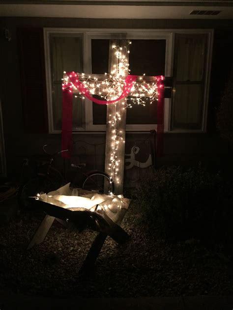 wood outdoor cross  lights      mind