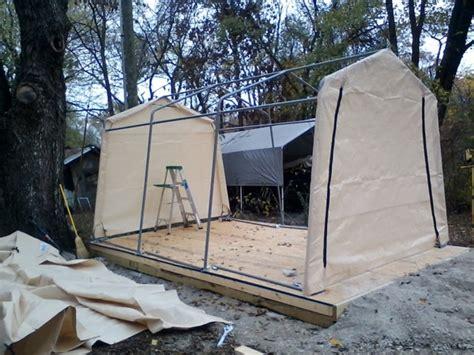 shelterlogic autoshelter 1015 portable garage with