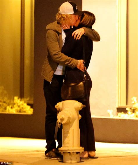 owen wilson house owen wilson kisses mystery brunette spotted leaving his