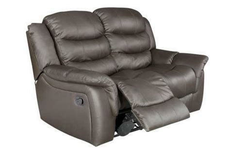 2 Seater Reclining Leather Sofa by 2 Seater Brown Leather Recliner Sofa Leather Sofas Ebay