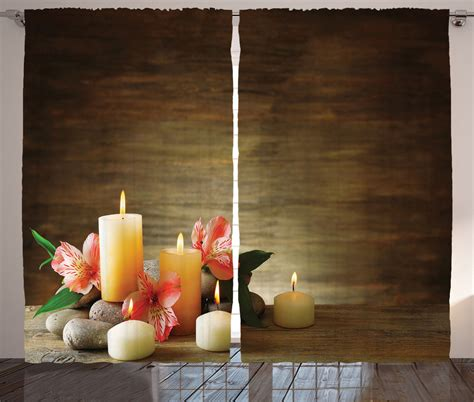 yoga home decor spa theme with candle wellbeing neutrality yoga home decor
