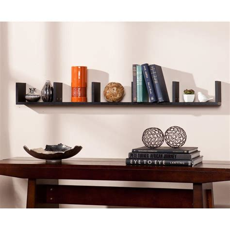 Black Decorative Shelves Rubbermaid 10 In X 24 In X 24 In Black Bracketed