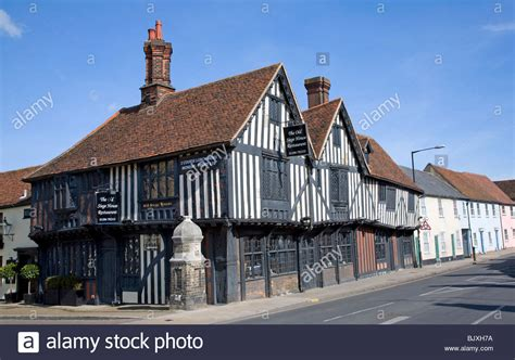 houses to buy in colchester tudor timber framed building the old siege house colchester essex stock photo