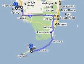 map sanibel to big pine key