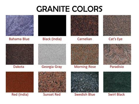 Types Of Countertops Is Typically The Least Expensive by Granite Colors Citywide Monuments2382a S Dairy