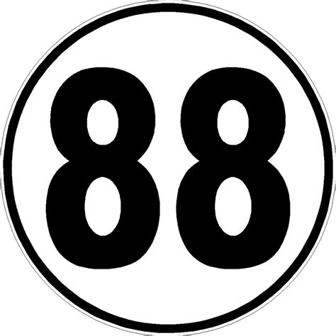 Auto Decal Numbers by Racing Number 88 Decals For Car Or Truck 11 Quot X 11 Quot Number