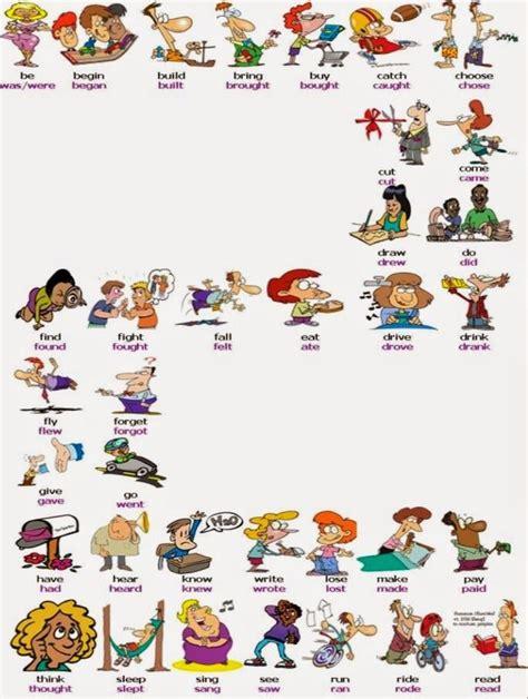 imagenes ingles verbos verbos irregulares dibujos animados buscar con google