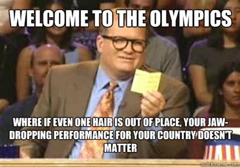 Jaw Drop Meme - welcome to the olympics where if even one hair is out of