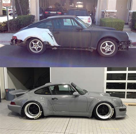 porsche before and after found this on instagram before and after rwb conversion