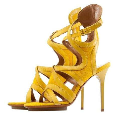 balenciaga yellow gladiator suede sandals size us 6 regular m b tradesy