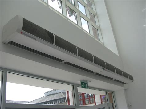 heated air curtains electric heated air curtain teddington t200e