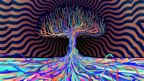 tree colors psychedelic colors abstract tree 4k ultra hd wallpaper