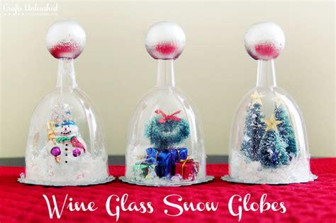 crafts snow globes diy snow globe tutorial wine glasses crafts unleashed