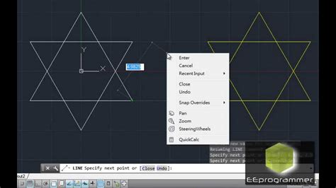 autocad 2014 essential training 1 interface and drawing autocad 2014 tutorial draw a star using object snap line