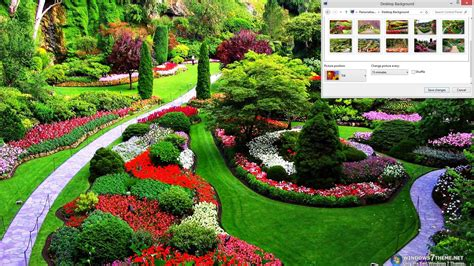 windows background themes spring download spring gardens windows 7 theme 1 00