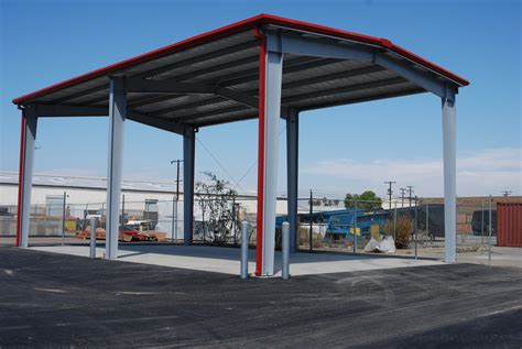 Carport Structure by Steel Carports Solar Structures Pascal Steel Buildings