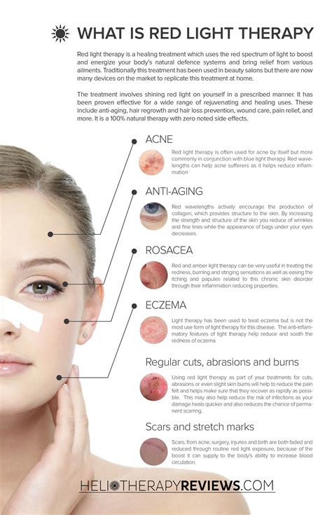 what does light therapy do for your skin our handy inforgraphic shows all the uses of light