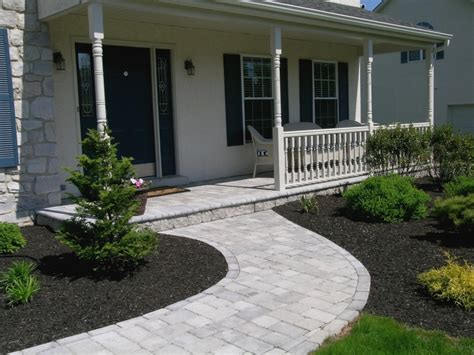 front porch and sidewalk ideas custom patios walkways pool decks creative landscaping bucks