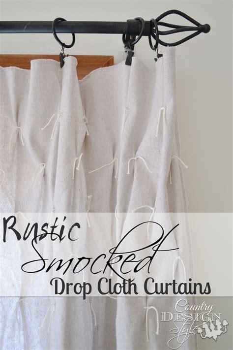 drop cloth curtain ideas rustic smocked drop cloth curtains drop cloth curtains