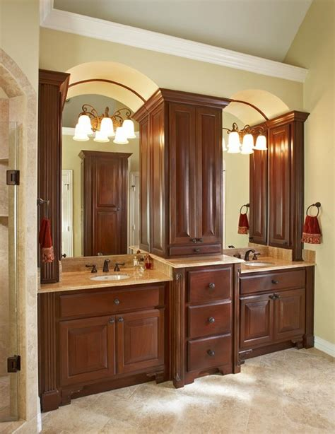 bathroom vanity design how are the two vanity sinks and the center cabinet