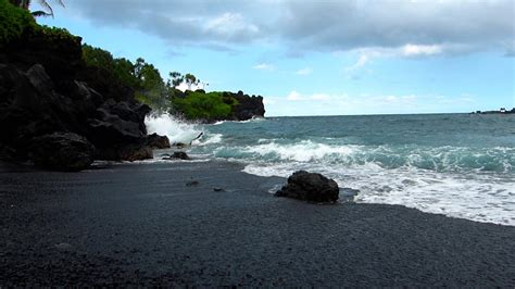 black sand game wai anapanapa black sand beach on the road to hana maui