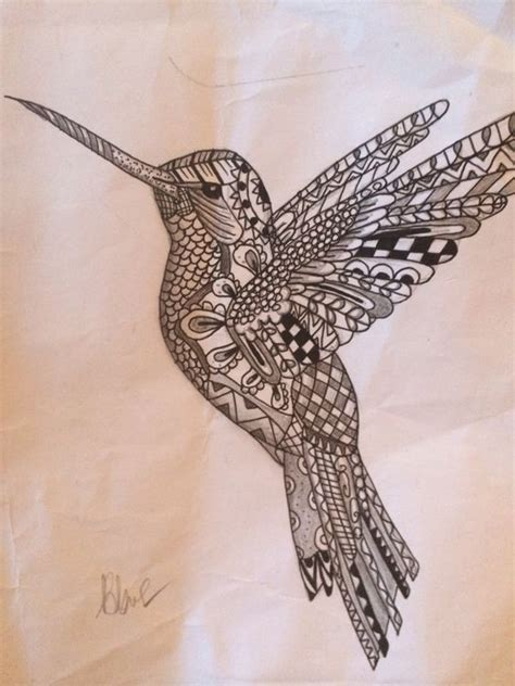 geometric zentangle tattoo hummingbirds mandalas and geometric mandala on pinterest