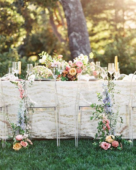 40 Pretty Ways to Decorate Your Wedding Chairs   Martha