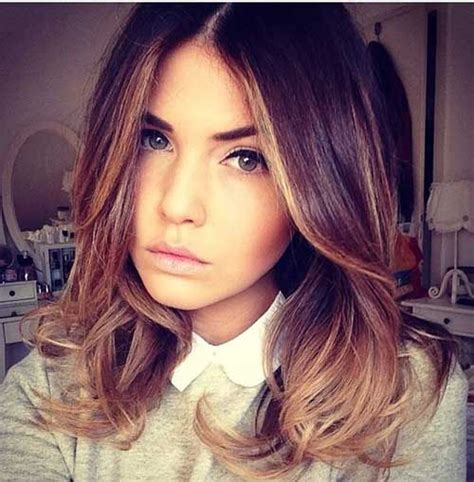 shoulder length hair with ombre pinterest shoulder length brown to blonde ombre hair color my