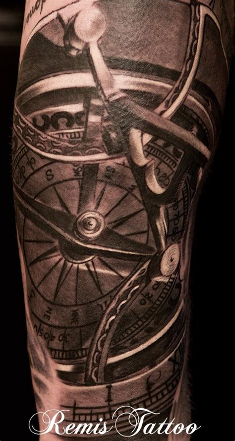 compass vine tattoo sundial compass tattoo by remistattoo on deviantart