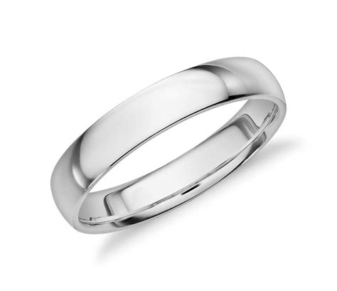 white gold comfort fit wedding band mid weight comfort fit wedding band in 14k white gold 4mm