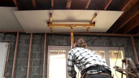 hang drywall  ceilings video diy