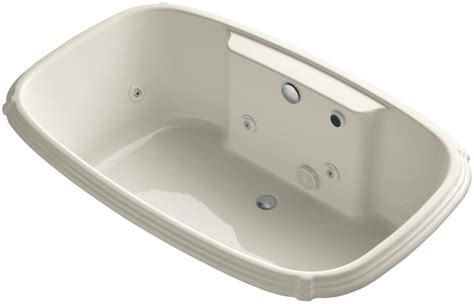 kohler bathtubs with jets kohler k 1457 hf 47 almond portrait collection 67 quot drop in