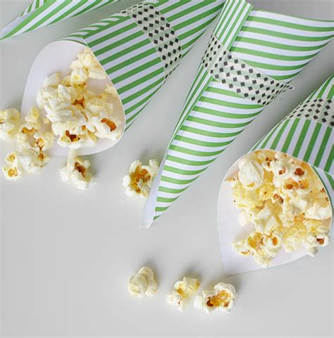 How To Make Paper Cones For Popcorn - chipotle popcorn easy paper cones i still you by