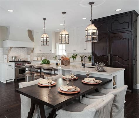 Dining Room Table Match Kitchen Cabinets 41 White Kitchen Interior Design Decor Ideas Pictures